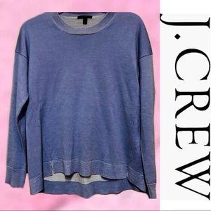 J. CREW Lightweight Merino Wool Blue Sweater